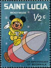 [The 10th Anniversary of Moon Landing 1979 - Disney Characters in Space Scenes, Typ KG]