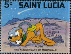 [The 10th Anniversary of Moon Landing 1979 - Disney Characters in Space Scenes, Typ KL]