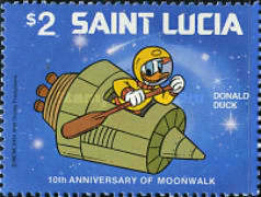 [The 10th Anniversary of Moon Landing 1979 - Disney Characters in Space Scenes, Typ KN]