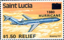[Hurricane Relief - Issues of 1980 Overprinted