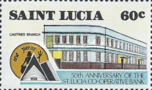[The 50th Anniversary of St. Lucia Co-operative Bank, Typ ZY]