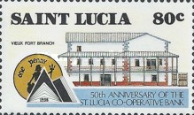 [The 50th Anniversary of St. Lucia Co-operative Bank, Typ ZZ]