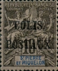 [St. Pierre et Miquelon Postage Stamps of 1892 Overprinted, type A]