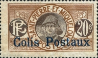 [Fisherman - St. Pierre et Miquelon Postage Stamps of 1909 Overprinted