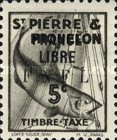 [Fish - Atlantic Cod - Postage Due Stamps of 1938 Overprinted