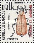 [Insects - Beetles - France Postage Due Stamps of 1982-1983 Overprinted