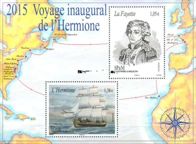 [First Voyage of the Reconstruction of French Frigate Lafayette Hermione, Typ ]