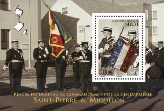 [Presentation of the Flag to the Commander of the Gendarmerie of Saint Pierre and Miquelon, type ]