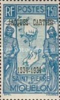 [The 400th Anniversary of Cartier's Discovery of Canada - Overprinted