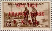[Free French Plebiscite - Issues of 1938 Overprinted
