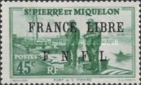 [Free French Plebiscite - Issues of 1938-1940 Overprinted
