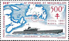 [Airmail - The 20th Anniversary of Adherence to Free French Government, type CV]