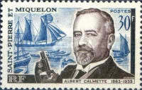 [The 100th Anniversary of the Birth of Dr. Albert Calmette, Bacteriologist, 1863-1933, type DB]