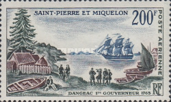 [Airmail - The 200th Anniversary of Arrival of First Governor, Dangeac, in St. Pierre and Miquelon, type DC]