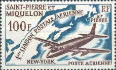 [Airmail - The 1st St. Pierre-New York Airmail Flight, type DG]