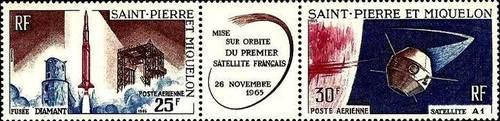 [Airmail - Launching of First French Satellite, type DN]