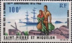 [Airmail - The 150th Anniversary of Return of Islands to France, type DP]