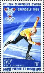 [Airmail - Winter Olympic Games - Grenoble, France, type DW]