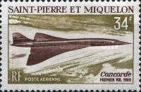 [Airmail - The 1st Flight of Concorde, type EF]