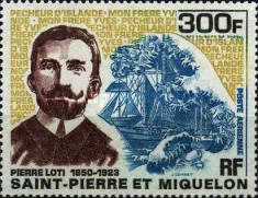 [Airmail - Pierre Loti, Explorer and Writer, Commemoration, 1850-1923, type EP]