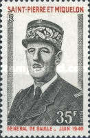 [The 1st Anniversary of the Death of De Gaulle, 1890-1970, Typ FW]
