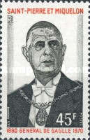 [The 1st Anniversary of the Death of De Gaulle, 1890-1970, Typ FX]