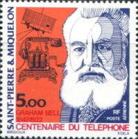[Airmail - The 100th Anniversary of Telephone, Typ HJ]
