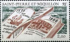 [The 450th Anniversary of Discovery of Islands by Jacques Cartier and 1st Anniversary of New Constitution, Typ HR]