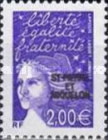 [Stamps from France Issues of 2002 Overprinted