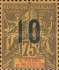 [Issues of 1892 and 1901-1906 Surcharged, type S9]