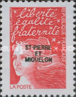 [Stamps from France Issues of 2001 Overprinted