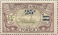 [Stamps of 1909 in New Colors & Surcharged New Value, Typ U2]