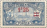 [Stamps of 1909 in New Colors & Surcharged New Value, Typ U6]