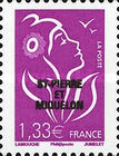 [French Postage Stamps Overprinted, Typ WN4]