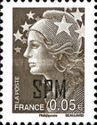 [French Postage Stamps Overprinted, Typ WX1]