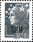[French Postage Stamps Overprinted, Typ WX2]