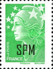 [French Postage Stamps Overprinted, Typ WX3]