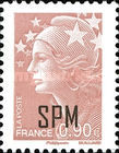 [Marianne - French Postage Stamps Overprinted, type XC10]