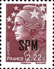 [Marianne - French Postage Stamps Overprinted, type XC13]
