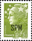 [Marianne - French Postage Stamps Overprinted, type XC14]