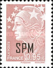 [Marianne - French Postage Stamps Overprinted, type XC15]