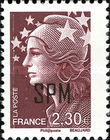 [Marianne - French Postage Stamps Overprinted, type XC16]