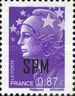 [Marianne - French Postage Stamps Overprinted, Typ XC17]
