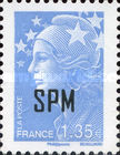 [Marianne - French Postage Stamps Overprinted, type XC18]