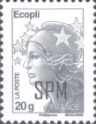 [Marianne - French Postage Stamps Overprinted, Typ XC20]