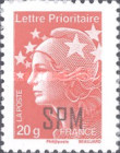 [Marianne - French Postage Stamps Overprinted, Typ XC21]