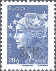 [Marianne - French Postage Stamps Overprinted, Typ XC24]