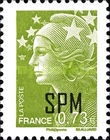 [Marianne - French Postage Stamps Overprinted, type XC9]