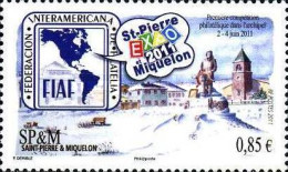 [International Stamp Exhibition EXAO 2011, St. Pierra, Typ YX]