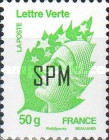 [Marianne - French Postage Stamps Overprinted, Typ ZV1]